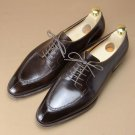 Handmade Mens Dark brown brown Oxfords Derby dress shoes, Leather shoes for mens
