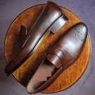 Handmade Mens brown Leather Brogue shoes Loafer moccasins. Shoes for mens