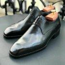 Handmade Mens Black leather Dress Shoes, Men black derby shoes, Mens shoes