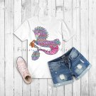 Rainbow seahorse,decal,clipart,sublimation,PNG,DTG printing,design download,print