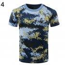 Students Unisex Summer Camouflage Combat T-Shirt