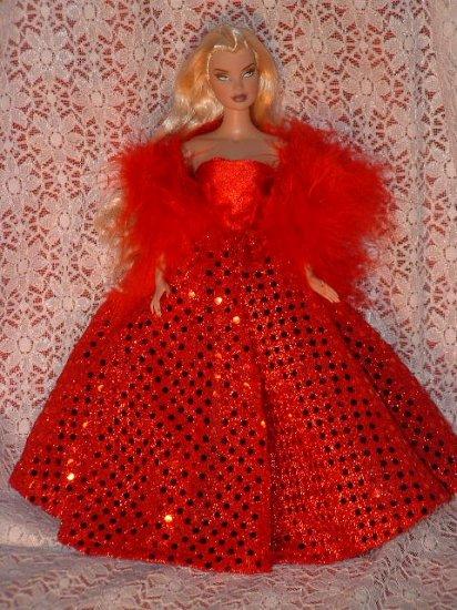 Doll clothe Silkstone Barbie, pretty red dres