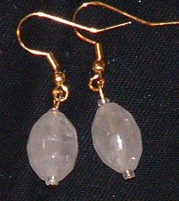 Rose Quartz earrings, beautiful