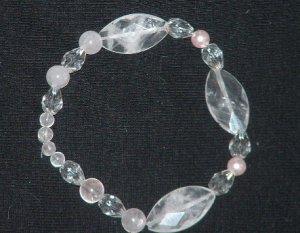 Rose Quartz swarovski crystal bracelet