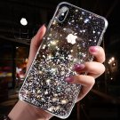 Luxury Bling Sequins Star Glitter Phone Case For iphone X XS Shining Transparent Soft TPU Cover Case
