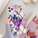 Lovebay Electroplated Banana Leaves Flowers Phone Case For IPhone Soft Back Cover