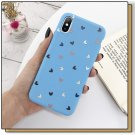 Lovebay Silicone Love Heart Phone Case For iPhone Candy Color Shell Soft TPU Back Cover