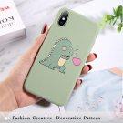 Lovebay Cartoon Lovely Dinosaur Avocado Case For iPhone Covers Soft TPU