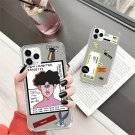 Lovebay Transparent Cartoon Phone Case For iPhone Soft TPU Silicone INS Weird Back Cover