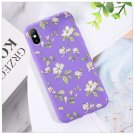 Moskado Colorful Floral Leaves Phone Case For iPhone Flowers Soft TPU Silicone Back Cover