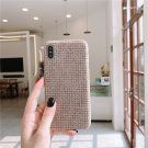 Moskado Fashion Flannelette Fabric Phone Cases For iphone Plain Colth Soft PU Back Cover