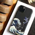 Wave 3D Phone Case For iphone 11 Pro Max 7 8 6s 6 s Plus Case Cover For Funda iphone  Case Black