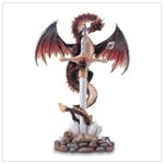 31527 Sword And Dragon Stone Display