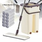 Hand-Free Wringing Floor Cleaning Mop Wet/Dry Magic Automatic Spin Self Cleaning (1 Mop & 10 Pads)