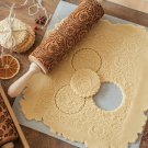 Embossing Rolling Pins Baking Cooking Noodle Biscuit Fondant Cake Dough Engraved Roller (15-Style)