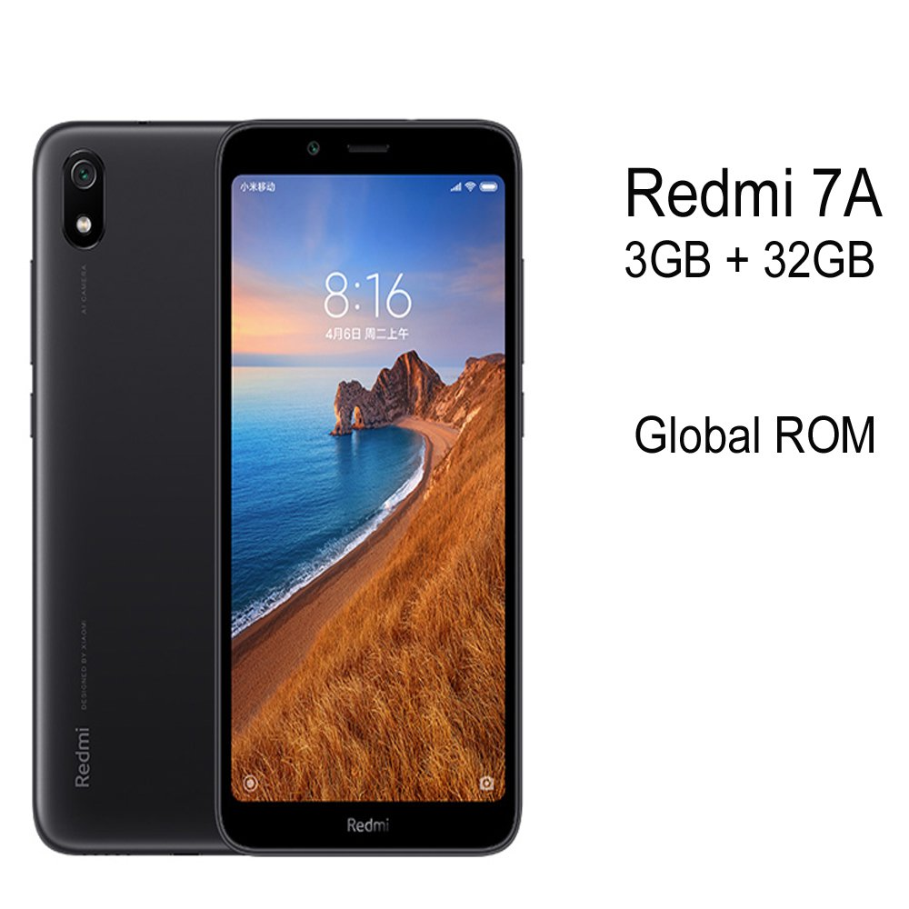 "Global Rom Xiaomi Redmi 7A 3GB+32GB Smartphone Snapdargon 439 4000mAh Battery 5.45"" 13MP Rear Camera"