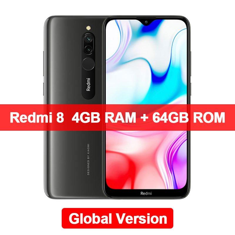 "Xiaomi Redmi 8 4GB+64GB Smartphone Snapdragon 439 Octa Core 12MP Dual Camera 6.22"" Screen 5000mAh"