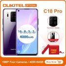 "OUKITEL C18 Pro 4GB + 64GB Smartphone 4 Rear Cameras Octa Core 6.55"" 4000mAh Android 9 Global Ver"