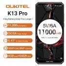 "OUKITEL K13 Pro 4G RAM 64GB ROM Smartphone Android 9 5V/6A 11000mAh Octa Core 6.41"" OTA NFC Face ID"