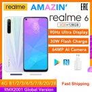 "realme 6 4GB RAM 128GB ROM Helio G90T 6.5"" 90Hz 30W Flash Charge 4300mAh 64MP Camera NFC Play Store"