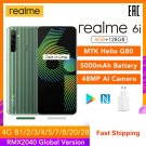 "realme 6i 4GB RAM 128GB ROM Mobile Phone 5000mAh Battery 6.5"" Helio G80 48MP Camera Play Store NFC"