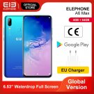 "ELEPHONE A6 MAX 4GB 64GB Smartphone 6.53"" MT6762V 20MP Front Camera Face Fingerprint Android 9.0"