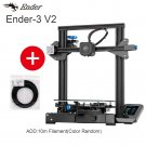 Ender-3 V2 3D Printer Kit Updated Silent Mainboard Creality 3D Smart Filament Sensor Resume Printing