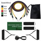 11-Pcs Resistance Bands Expander Yoga Rubber Tubes Stretch Training Gyms Workout Elastic Pull Rope