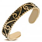 BRONZE ANTIQUE VINTAGE LOOK ADJUSTABLE LADIES GIRLS SPIRAL FASHION CUFF TOE RING
