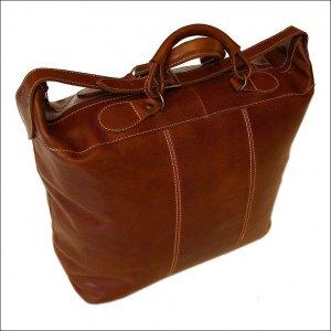 Floto Piana tote Vecchio Brown leather duffle bag SKU 3Brown