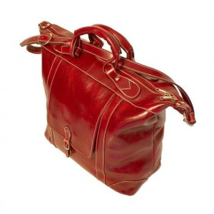 Floto Tack Duffle bag in Tuscan Red leather *SKU 16Red