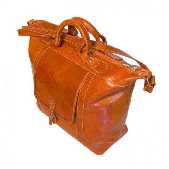 Floto Tack Duffle bag in Orange leather *SKU 16Orange