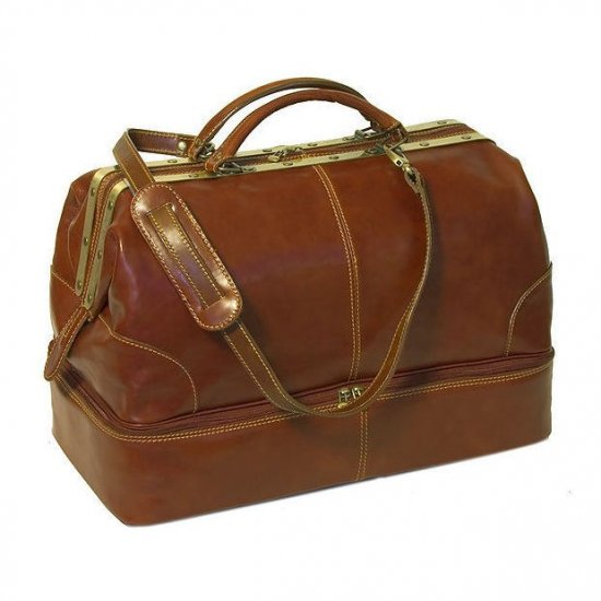 Floto Positano Grande Duffle bag in Vecchio Brown leather *SKU 45