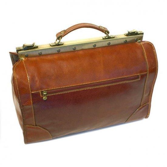 Floto Positano Duffle in Vecchio Brown leather SKU 22