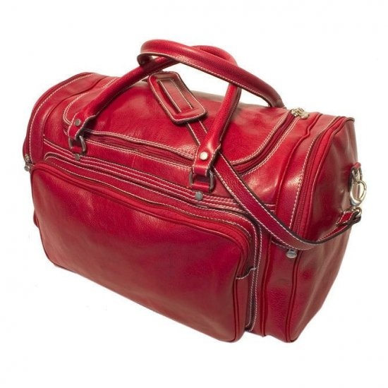 Floto Torino Duffle bag in Tuscan Red leather SKU 41Red