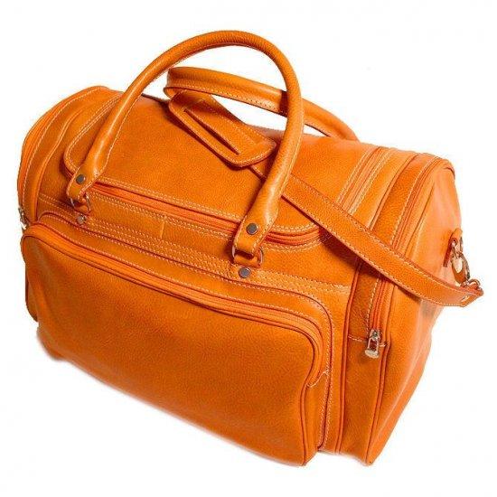 Floto Torino Duffle bag in Orange leather SKU 41Orange