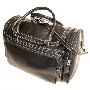 Floto Torino Duffle bag in Black leather SKU 41Black