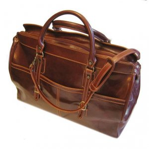 Floto Casiana Tote bag in Vecchio Brown leather SKU 56Brown