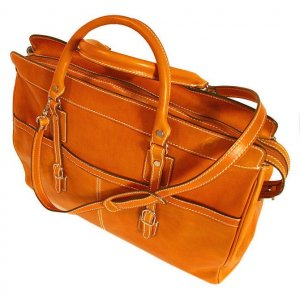 Floto Casiana Tote bag in Orange leather SKU 56Orange