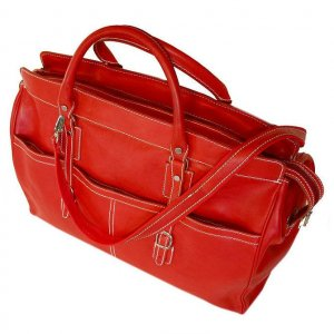 Floto Casiana Tote bag in Tuscan Red leather SKU 56Red
