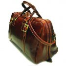 Floto Trastevere Duffle bag in Vecchio Brown leather SKU 20Brown