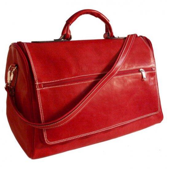 Floto Taormina Duffle bag in Tuscan Red leather SKU 150Red
