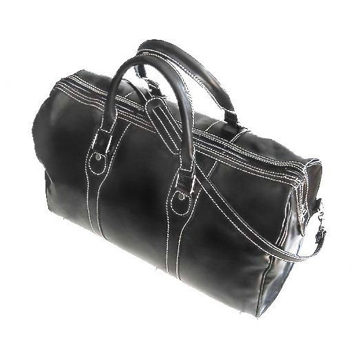 Floto Milano duffle bag in Black leather SKU 40Black