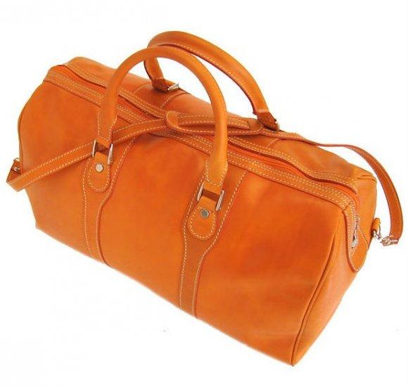 Floto Milano duffle bag in Orange leather SKU 40Orange