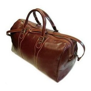 Floto Milano duffle bag in Vecchio Brown leather SKU 40Brown