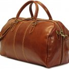 Floto Venezia Leather Duffle in Vecchio Brown SKU 18