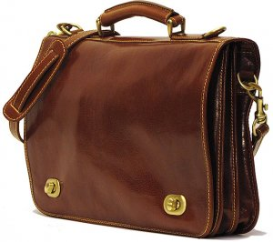 Floto Roma Messenger bag in Vecchio Brown Leather SKU 106
