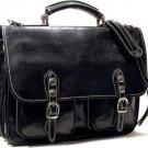 Floto Poste Messenger bag in Black Leather *SKU 4015