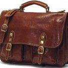 Floto Poste Messenger bag in Vecchio Brown Leather *SKU 4015