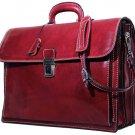 Floto Firenze Briefcase in Tuscan Red SKU 4510